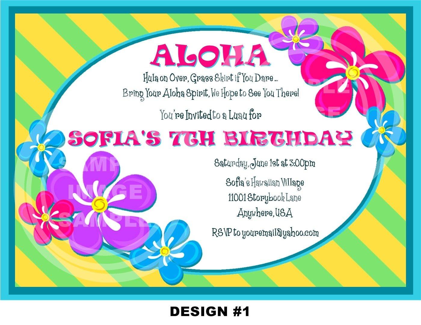 Hawaiian Birthday Invitations — Birthday Invitation Examples