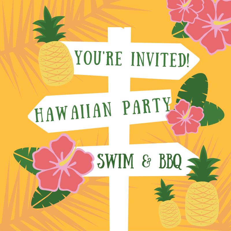 Invitation Ideas  Hawaiian Theme Party Invitations Printable