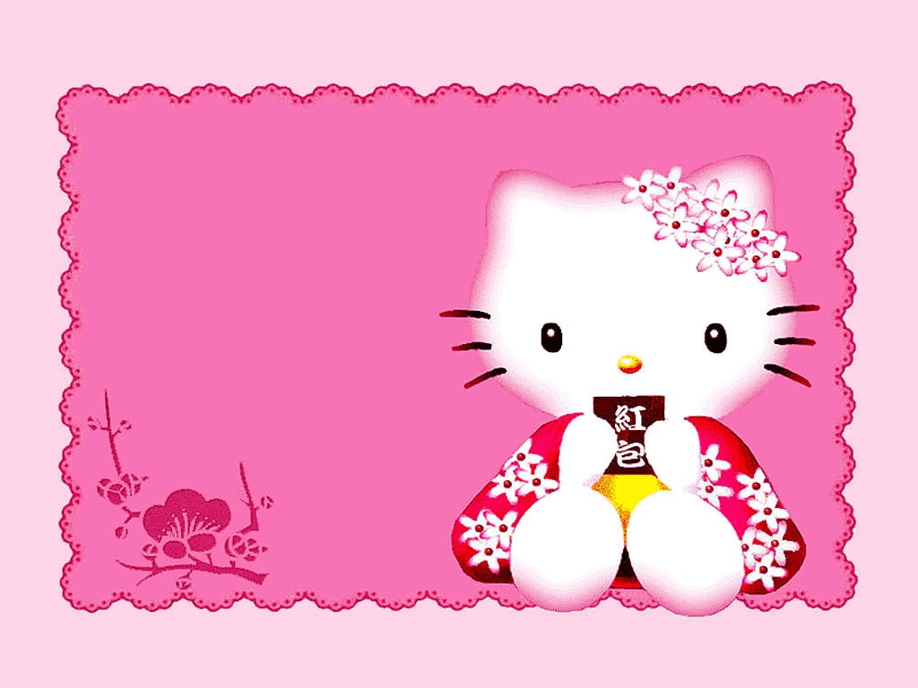 Hello Kitty Background For Invitation Christening 2 » Background