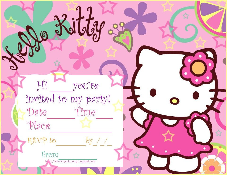 Images Of Hello Kitty Invitations