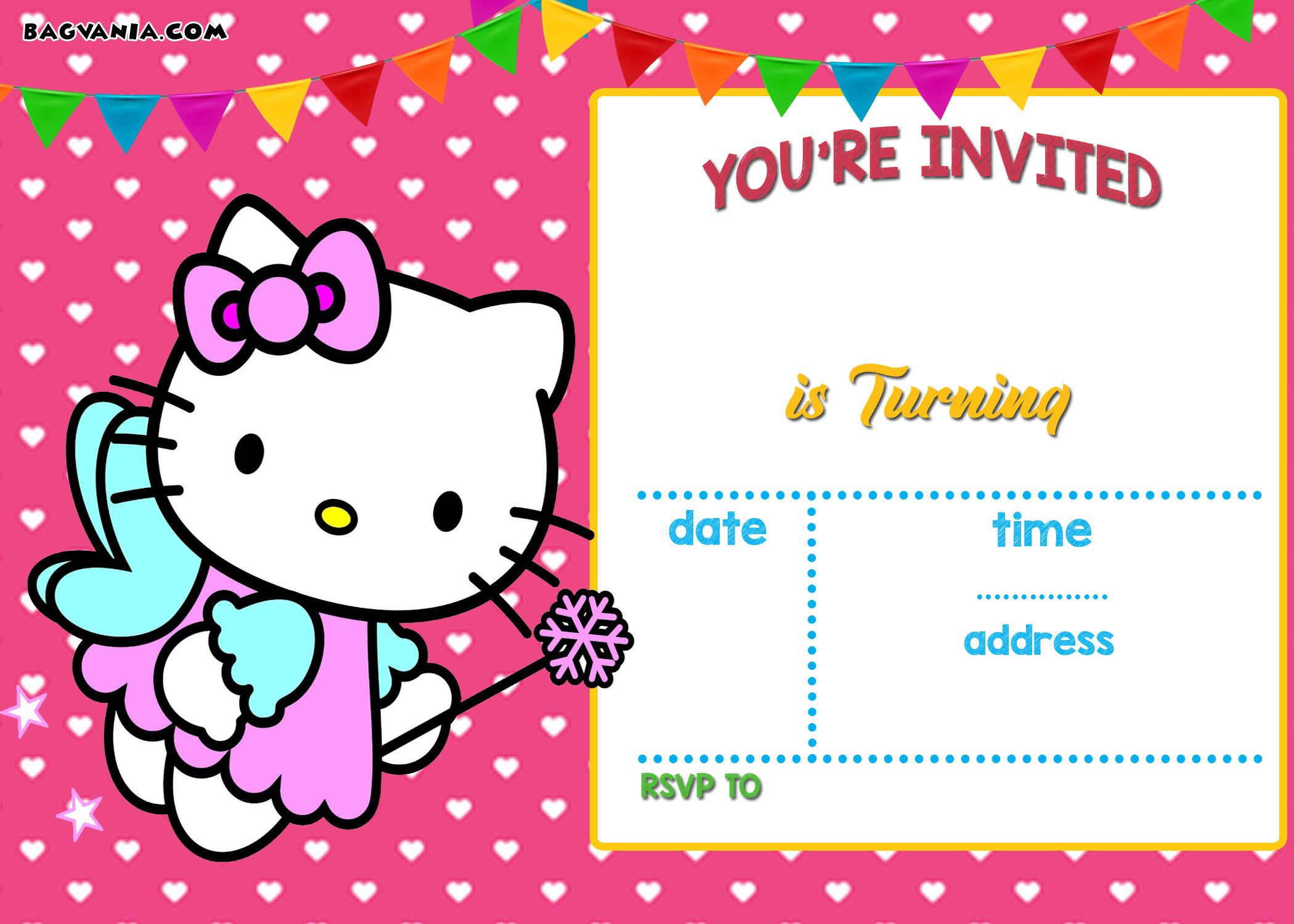 Hello Kitty Invitation Templates Free Download Epic With Hello