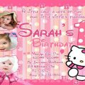 How To Layouting Birthday Invitation Hello Kitty