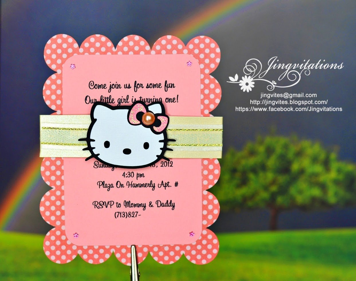 Jingvitations  Hello Kitty Baby Shower, Baptism, Birthday Invitations
