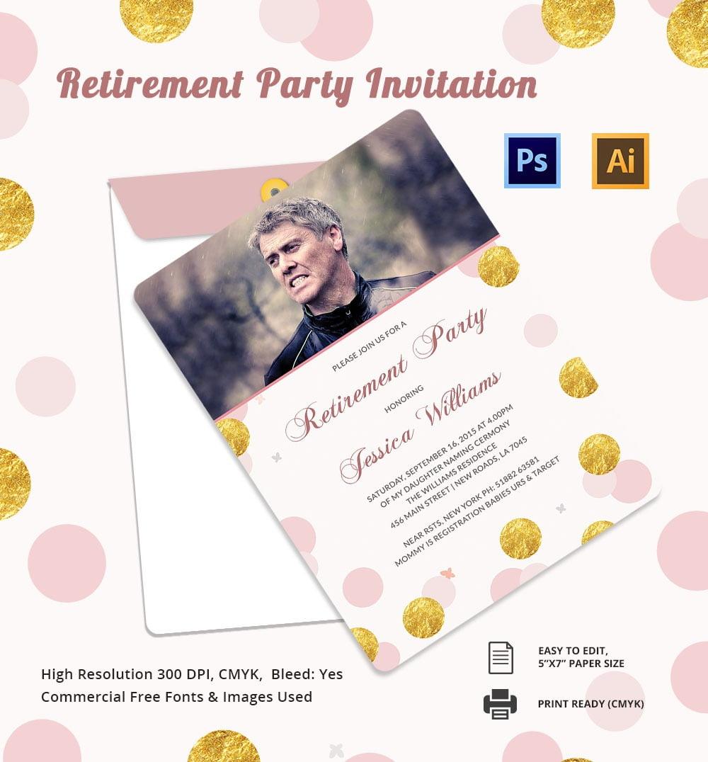 15+ Retirement Invitation Templates