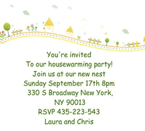 Invitation Ideas  Housewarming Party Invitation Template
