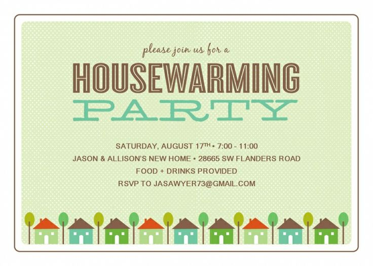 Housewarming Ideal Housewarming Party Invitation Template