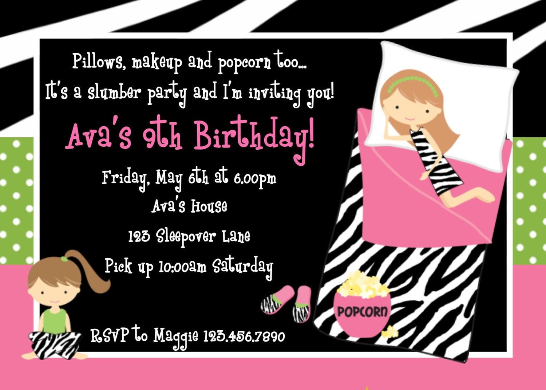 Sleepover Party Invite
