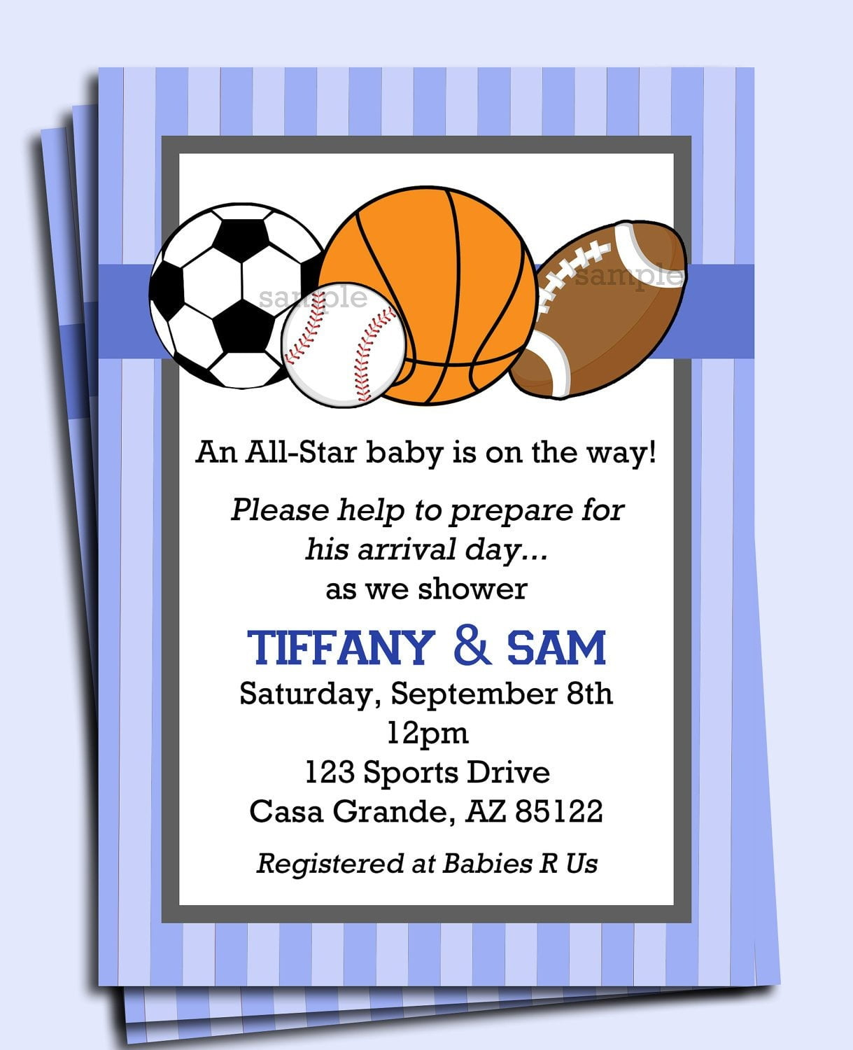All Star Sports Invitation Printable Or Printed With Free
