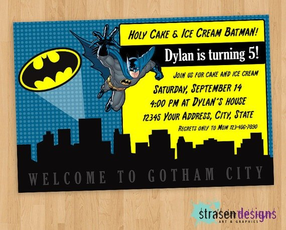 Il Xn Oiz Amazing Batman Invitations Templates
