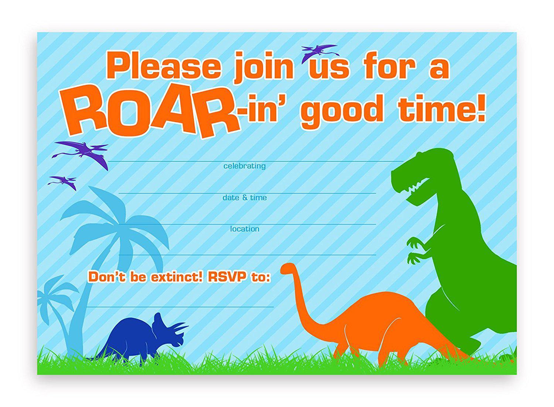 Inspirational Dinosaur Birthday Party Invitations 74 For Free