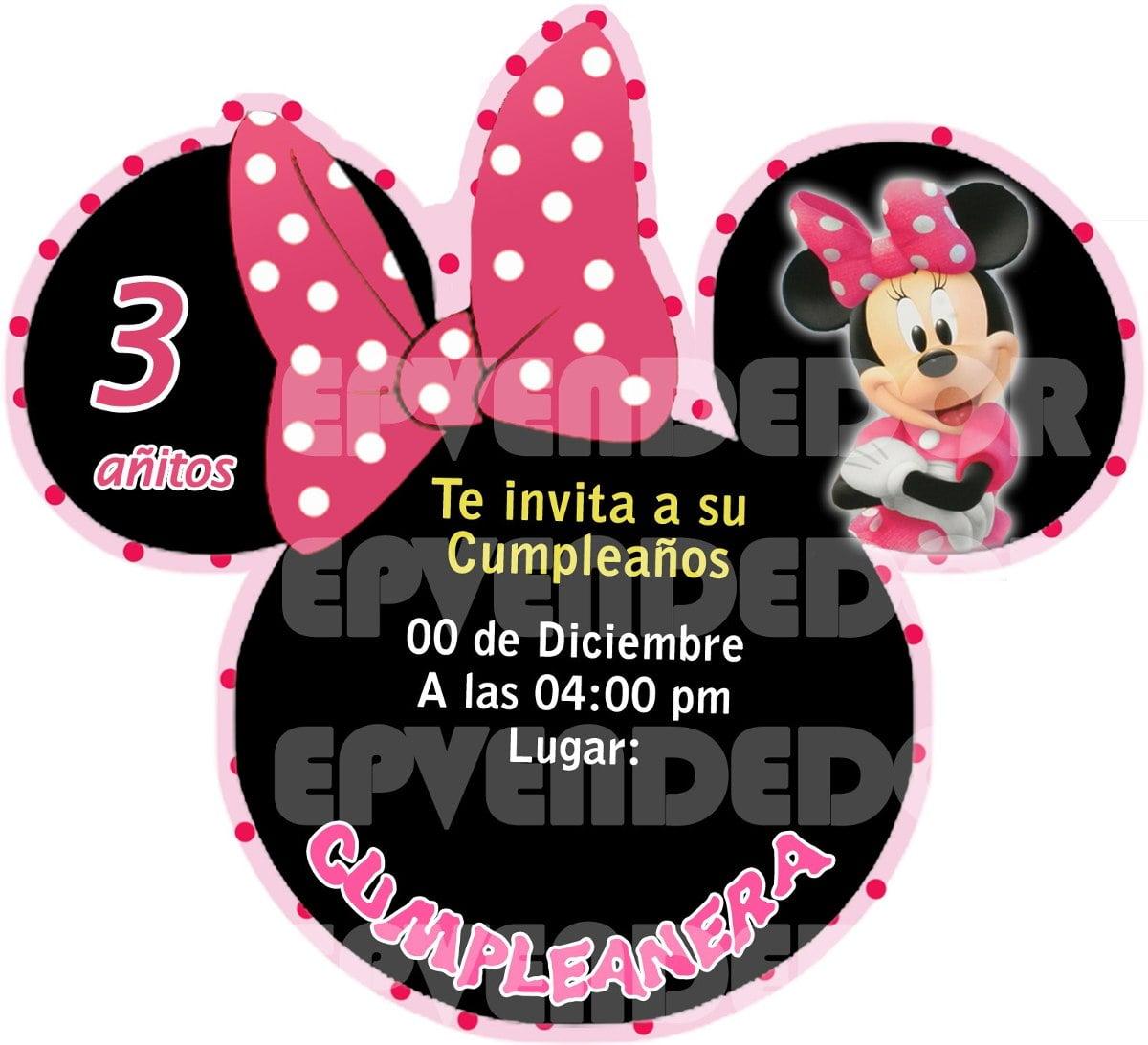 Invitacion Digital Minnie Mouse