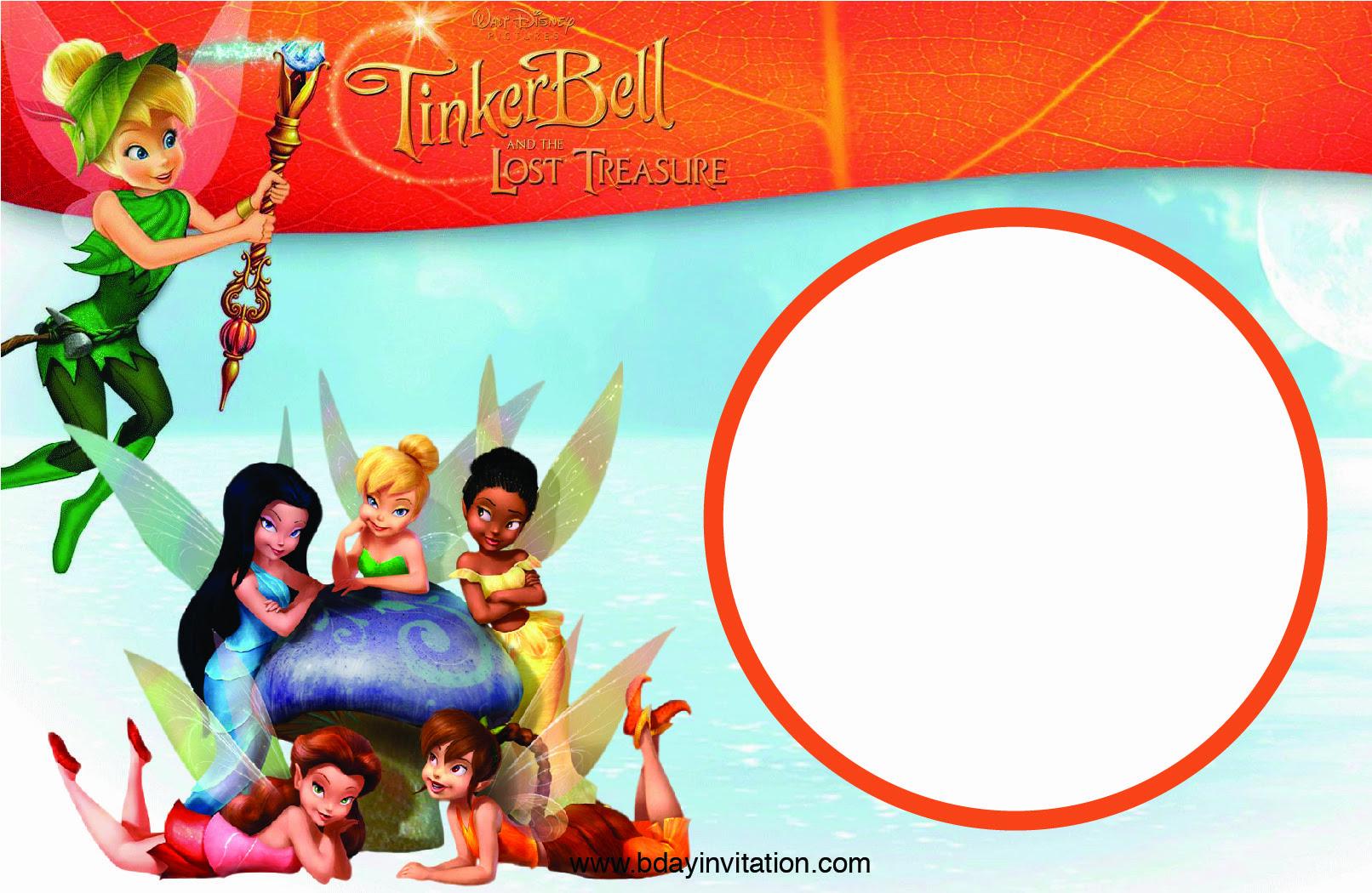 Free Printable Disney Tinkerbell Birthday Invitation Template