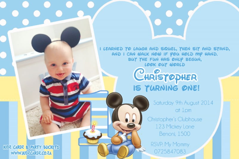Baby Mickey Mouse Background For Christening