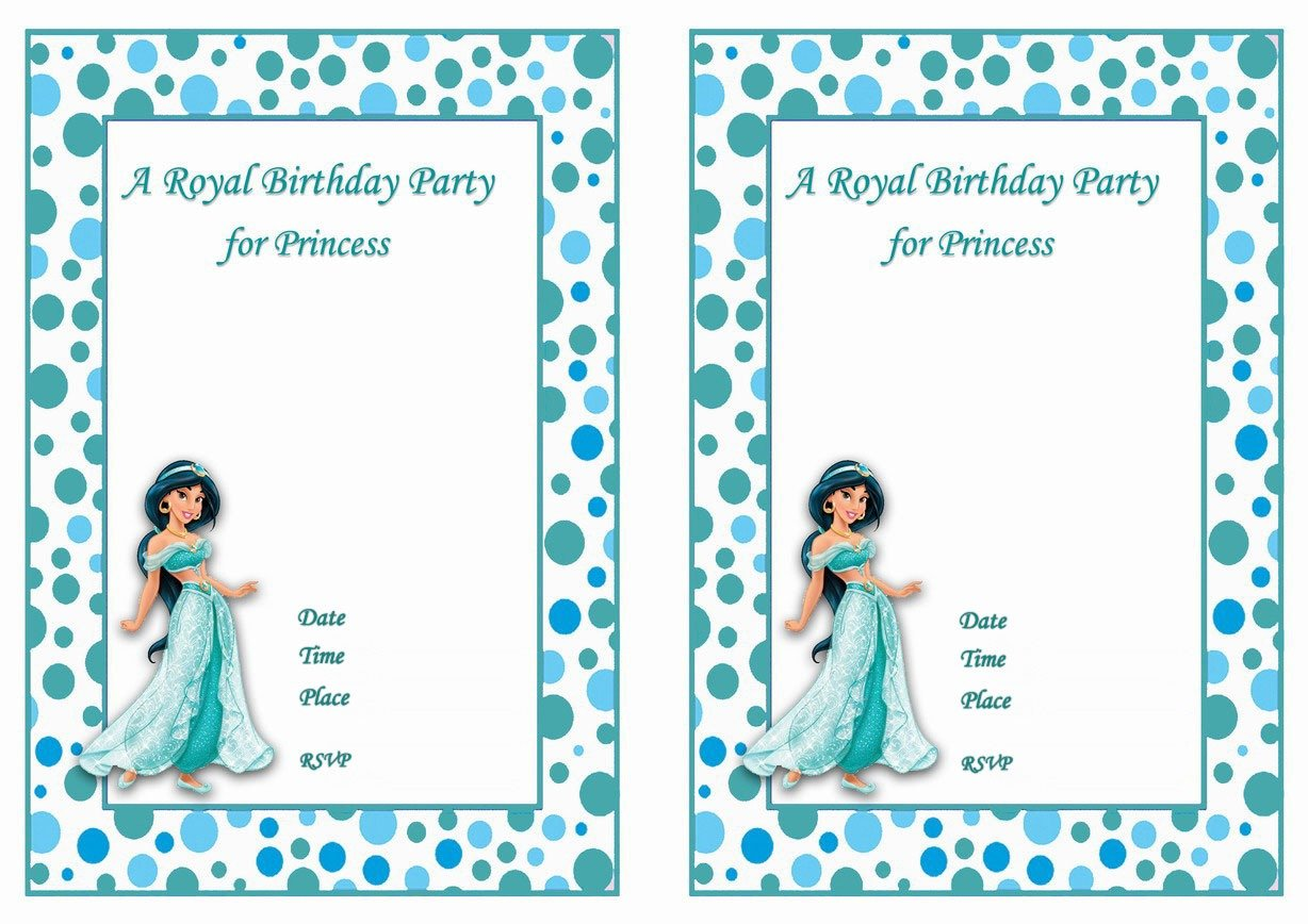 Princess Jasmine Birthday Invitations – Birthday Printable