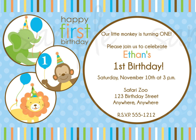 Jungle Birthday Invitations Templates