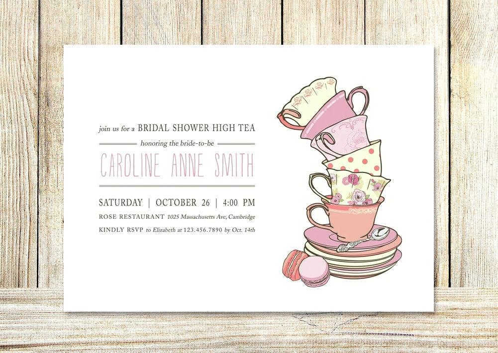 bridal party afternoon tea free templates