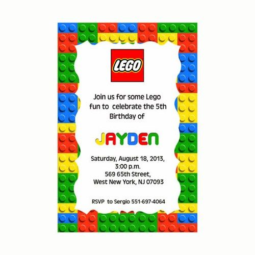 Template For Lego Birthday Invitation