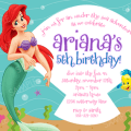 Free Lil Mermaid Party Invitation Templates