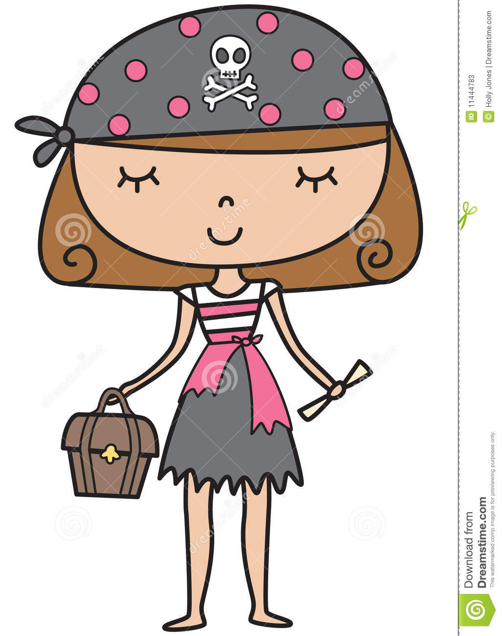 Little Pirate Girl Stock Vector  Illustration Of Illustration