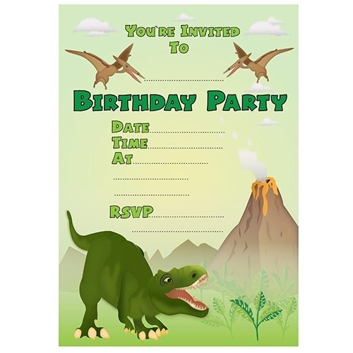 Cute Free Printable Dinosaur Birthday Invitations