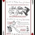 Free Mad Hatter Tea Party Invitation Template