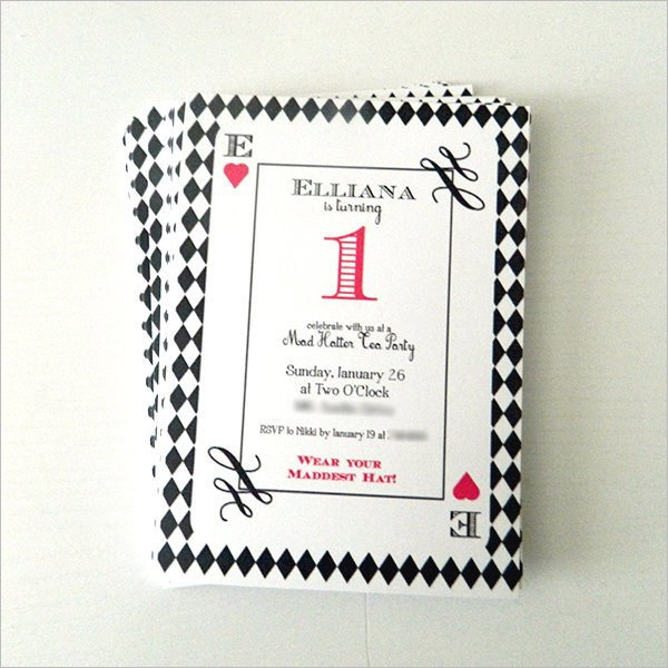 Mad Hatter Tea Party Invitation Lovely Mad Hatter Tea Party