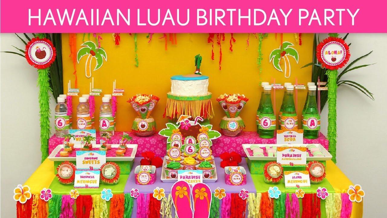 Hawaiian Luau Birthday Party Ideas    Hawaiian Luau