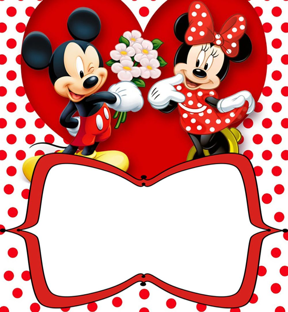 Invitation  Mickey And Minnie Birthday Invitations