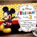 Mickey Mouse Print Out Invitations