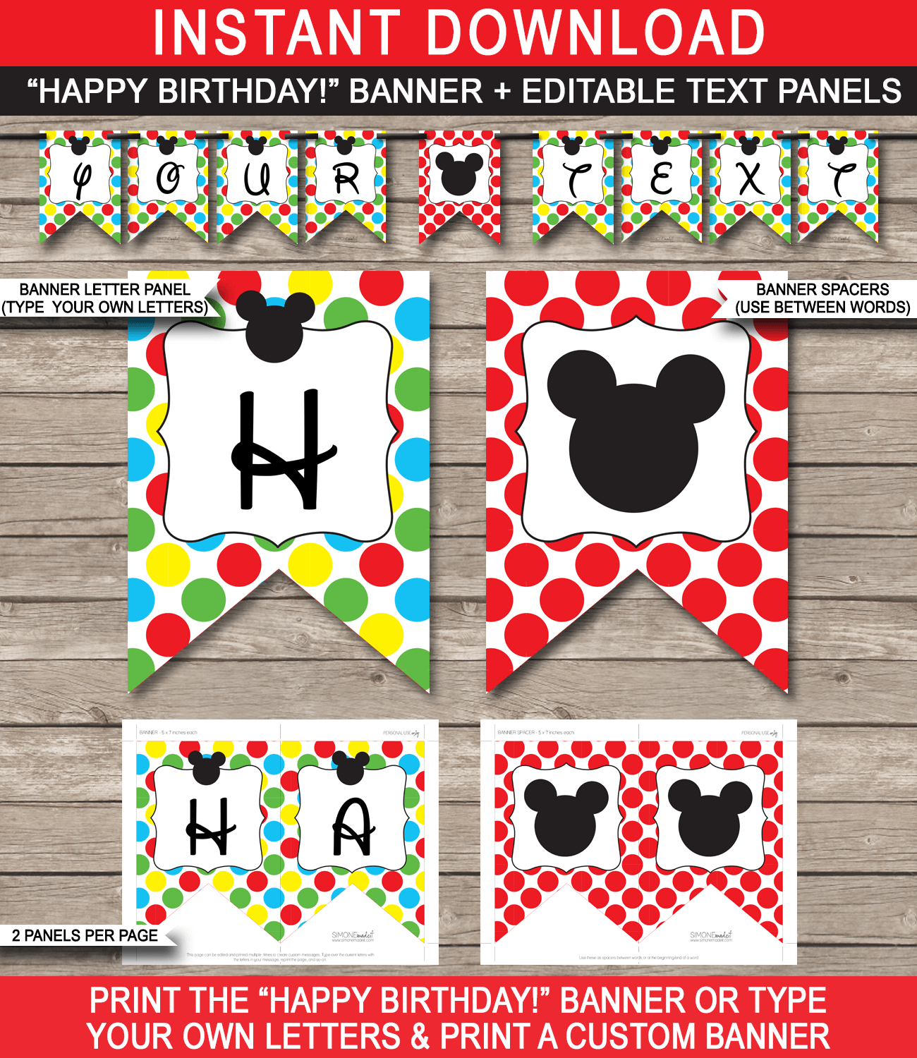 29 Images Of Mickey Mouse Party Printables Template