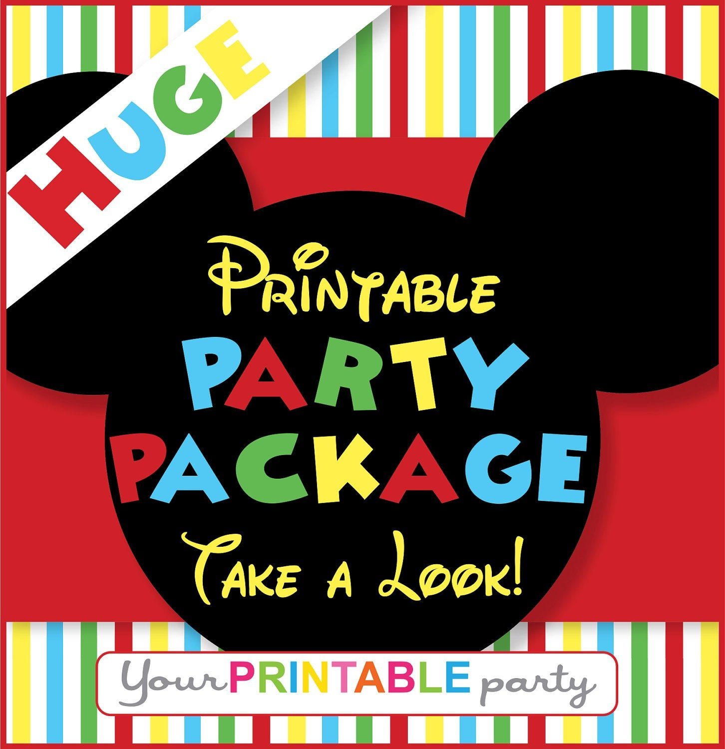 Minnie Mouse Party Invitation Minnie Mouse Invitation Mickey Mouse