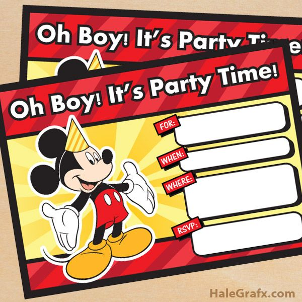 Mickey Mouse Printable Birthday Invitations Fancy With Mickey