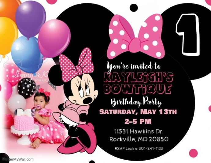 Fcccafbbfb Spectacular Minnie Mouse Party Invitation Template