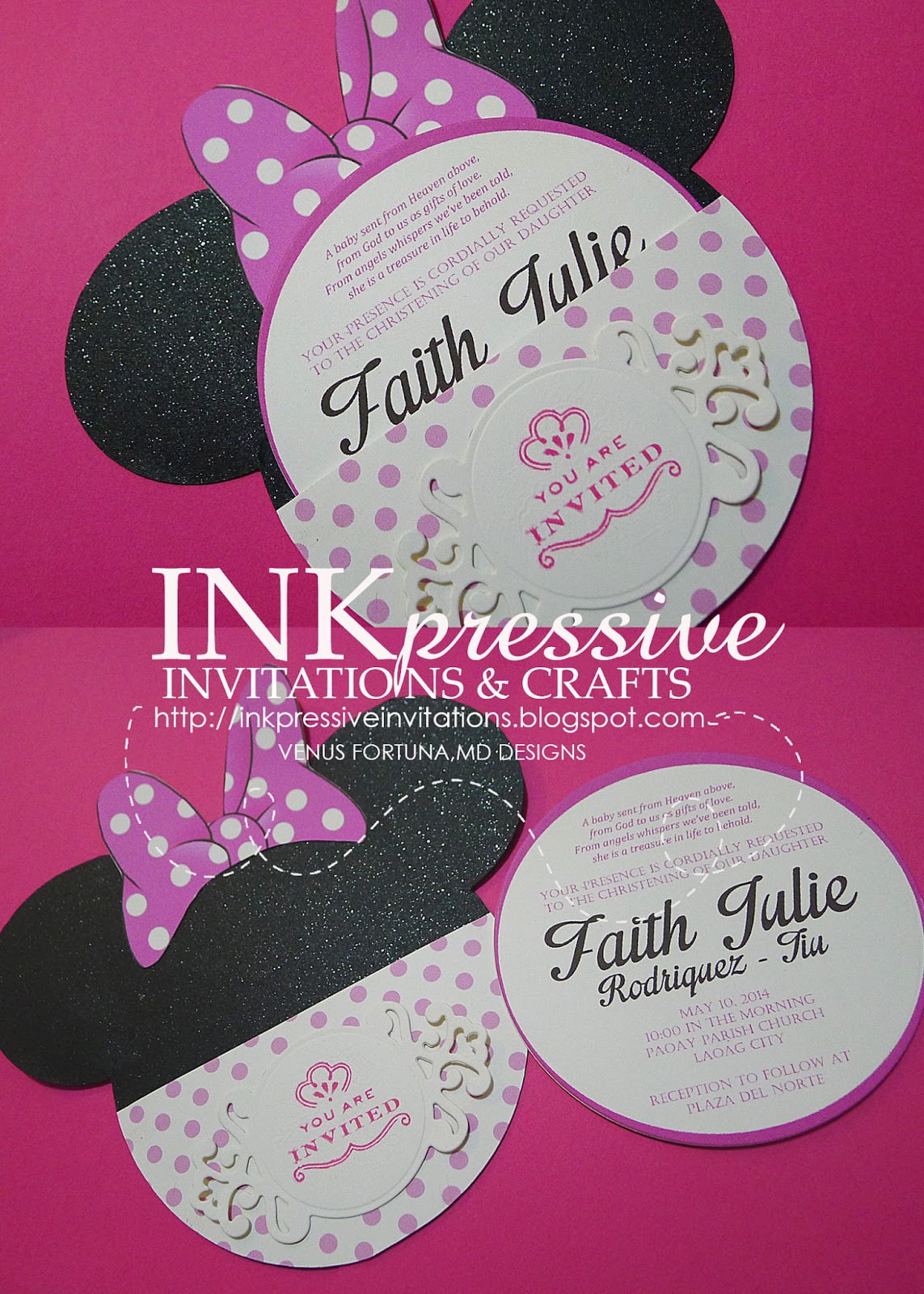 Minnie Mouse Themed Party Invitation