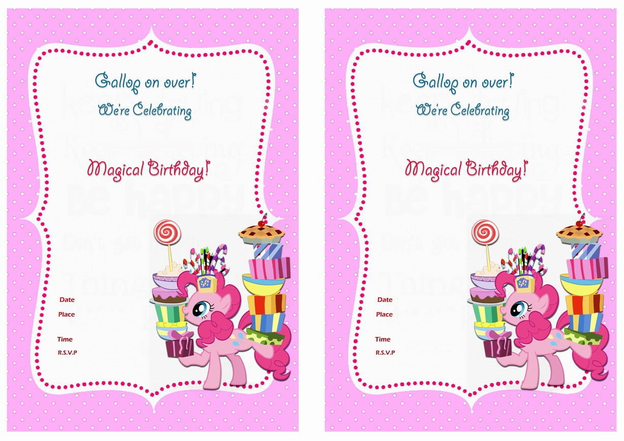 My Little Pony Birthday Invitations – Birthday Printable