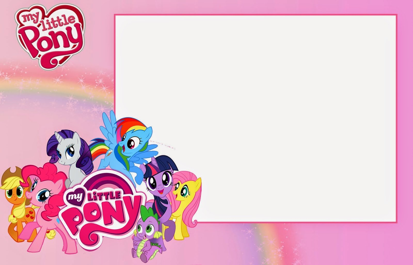 My Little Pony Birthday Invitations Printable Free Elegant With My