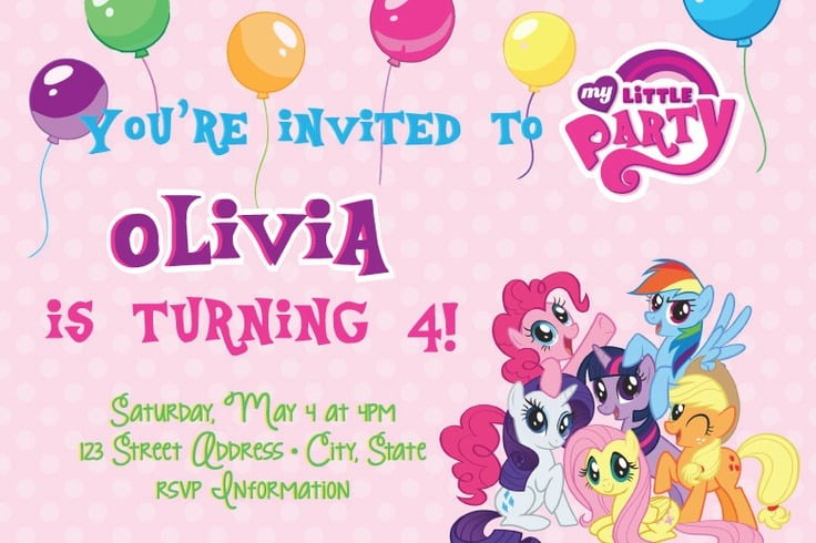 My Little Pony Birthday Invitations Printable Free Trend My Little