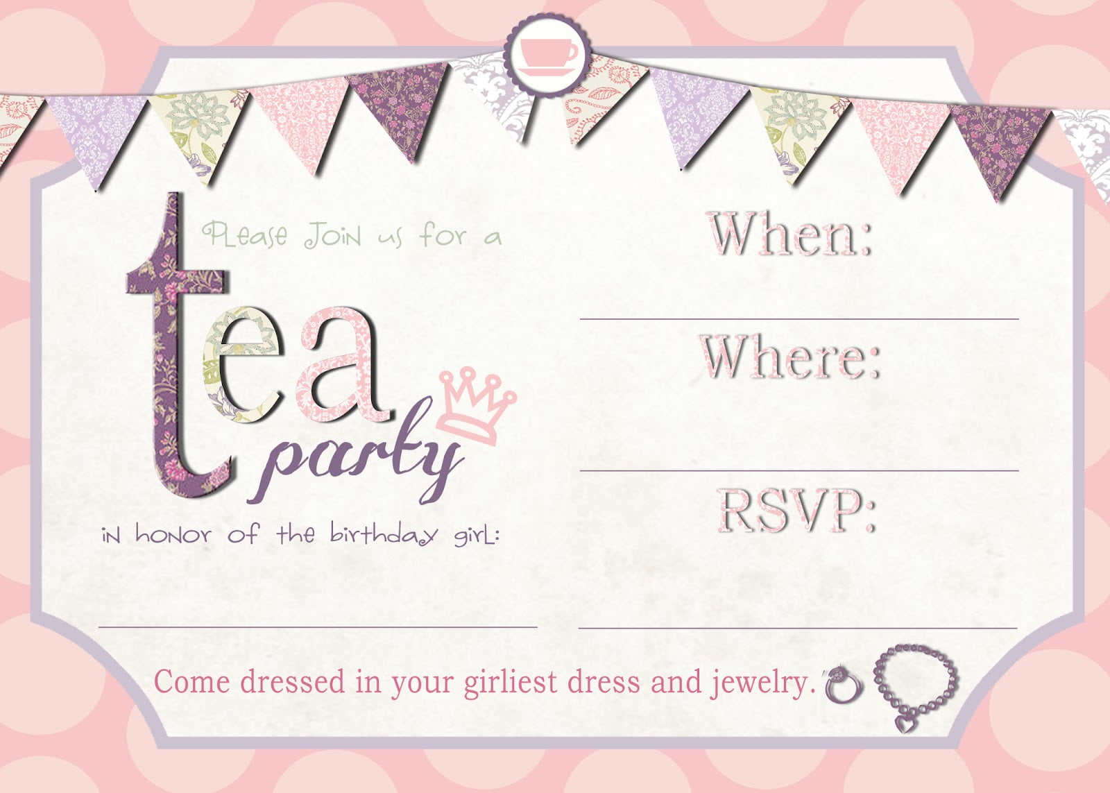 Th Birthday Invitation Tea Par Elegant Invitations To Tea Party