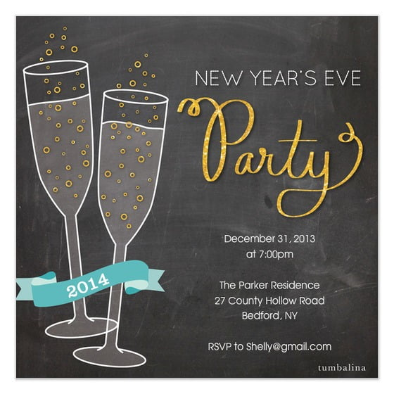Personalise Your New Years Invitation Template Download Popular