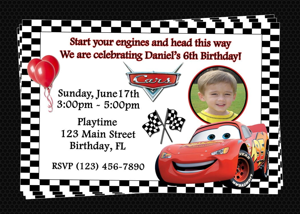 Nice Disney Cars Birthday Invitations Printable Free 52 On Card