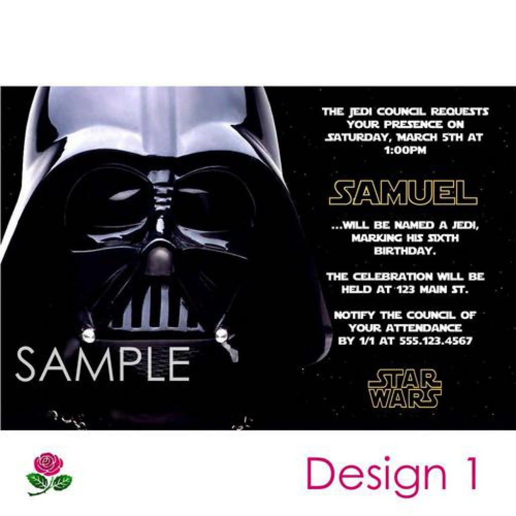 Nice Free Star Wars Party Invitations 34 On Invitation Design With