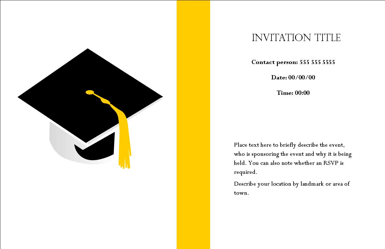 Nice Graduation Invitation Card 86 On Invitation Design With