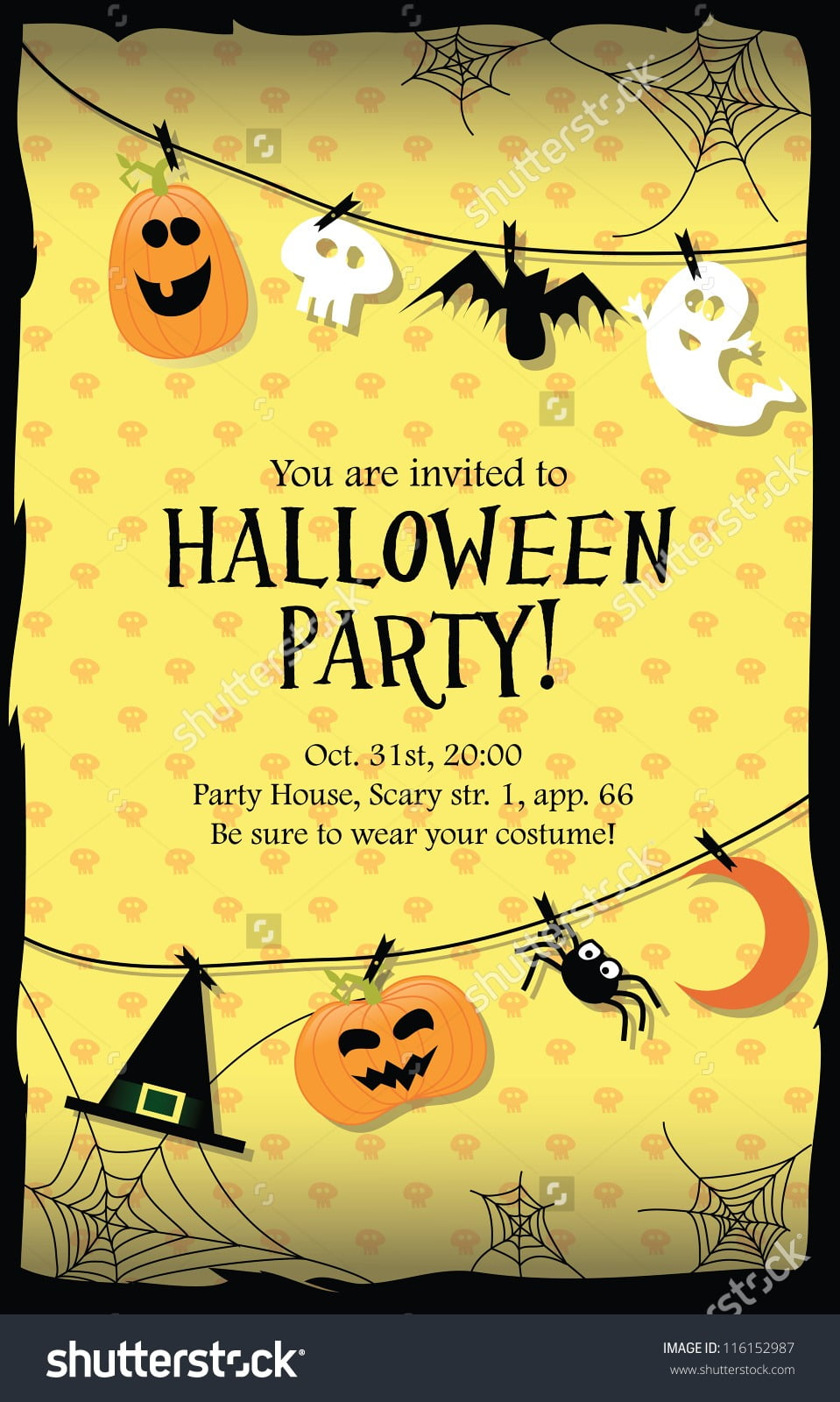 Nice Halloween Invitation Cards 53 In Picture Design Images With