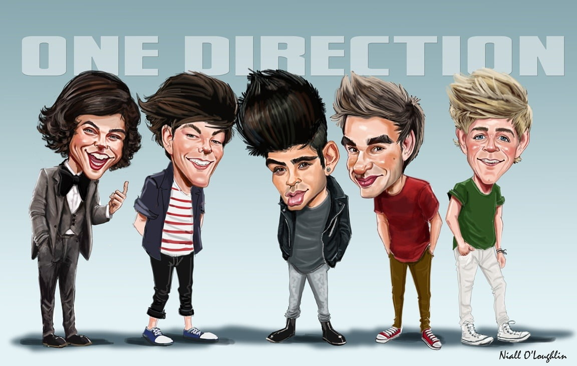 One Direction , Digital Print Signed By Artist
