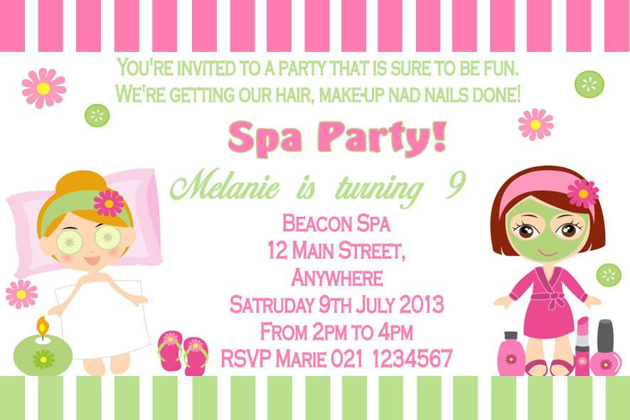 Pamper Party Invitations This Is The Party Invitation Template