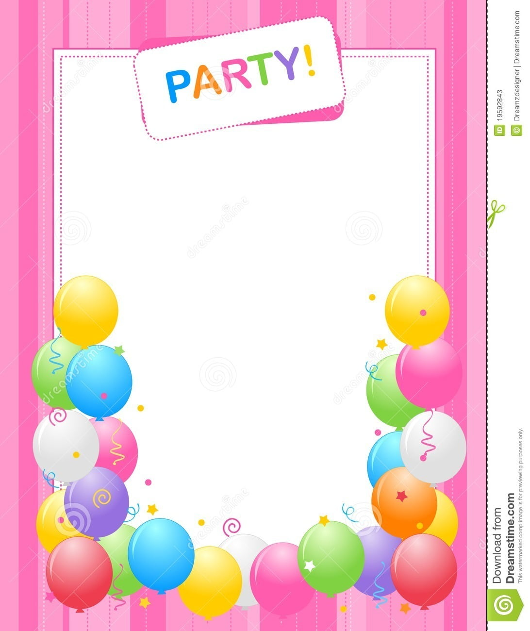 Party Invitation Background Stock Vector