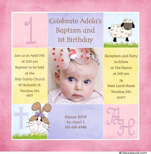 Perfect Baptism And 1st Birthday Invitation