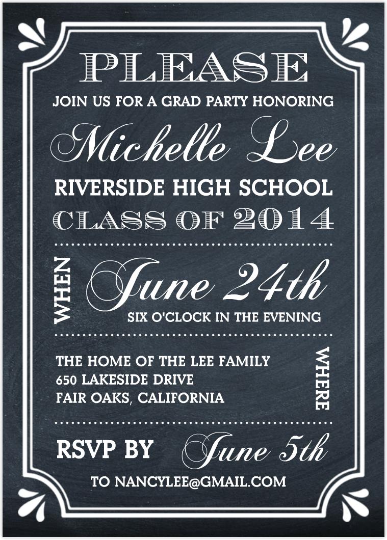 Perfect Graduation Party Invitation Ideas 40 On Invitations Cards