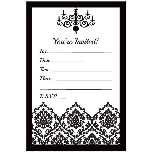 Black And White Invitations Invitation Templates Best Images On