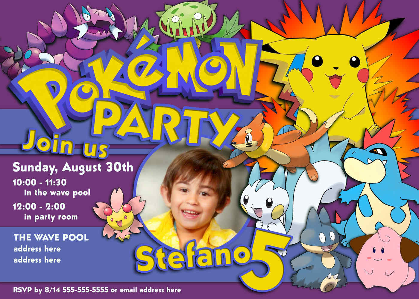 Pokemon Birthday Invitations With A Artistic Invitations Specially